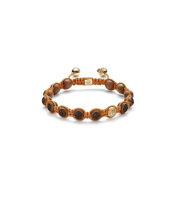 Shamballa Inner Radiance Men 8mm Shamballa Bracelet White Gold, Diamonds, Ebony, 18K Yellow Gold