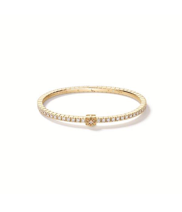 Shamballa Inner Radiance Women Alliance Bangle White Gold, Diamonds, 18K Yellow Gold