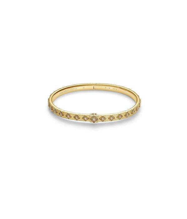 Shamballa Inner Radiance Women SOS Bangle White Gold, Diamonds, 18K Yellow Gold