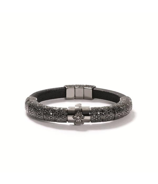 Shamballa Heroes and Warriors Korne Pavé Bracelet Black Diamonds, 18K Black Rhodium Plated White Gold