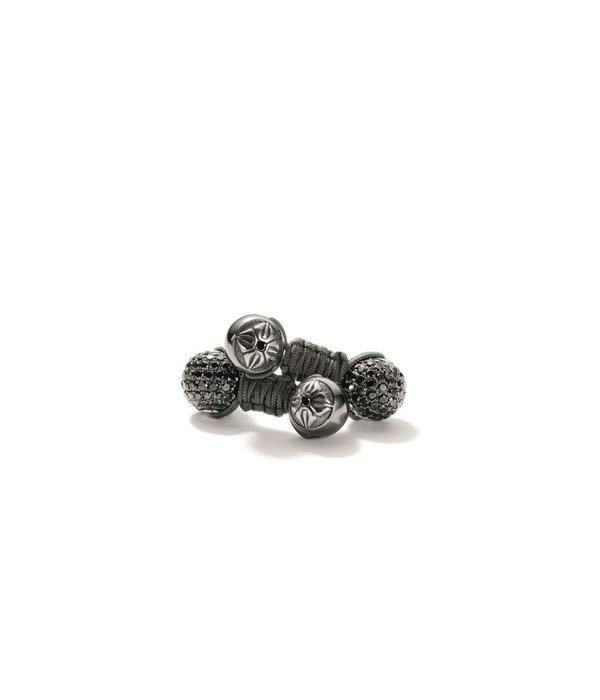 Shamballa Heroes and Warriors Shamballa Cufflinks Black Diamonds, 18K Black Rhodium Plated White Gold
