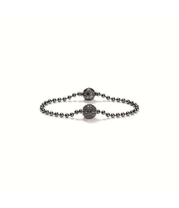 Shamballa Heroes and Warriors Royal Bracelet Black Diamonds, 18K Black Rhodium Plated White Gold