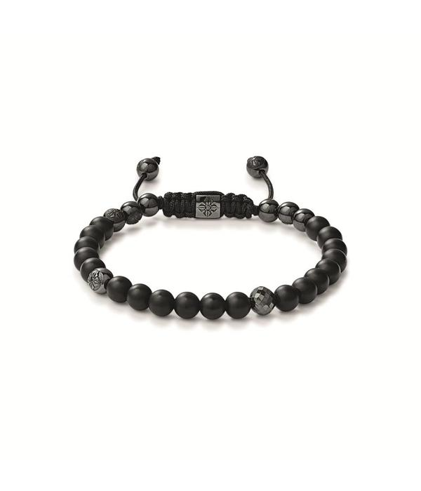 Shamballa Heroes and Warriors 6mm Non-Braided Shamballa Bracelet Black Diamond, Black Diamonds, Ceramics, Onyx, 18K Black Rhodium Plated White Gold