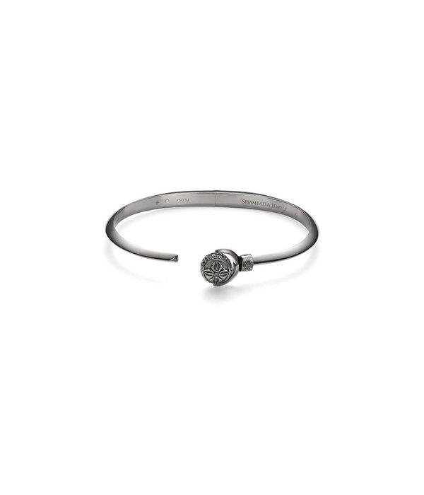 Shamballa Nyima Cuff Black Diamonds, 18K Black Rhodium Plated White Gold