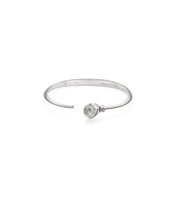Shamballa Nyima Cuff White Gold, Diamonds, 18K White Gold
