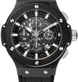 Hublot Big Bang Aero Bang Black Magic 44mm Horloge Keramiek / Zwart / Alligatorleder