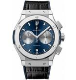 Hublot Classic Fusion Chronograph Chelsea 45mm Horloge Titanium / Blauw / Alligatorleder