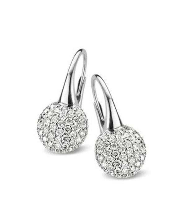 Bigli Moments 18 Carat White Gold Earring Drops with Diamond