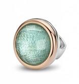Tirisi Moda Bedel Kristal Blauw Leder Rond