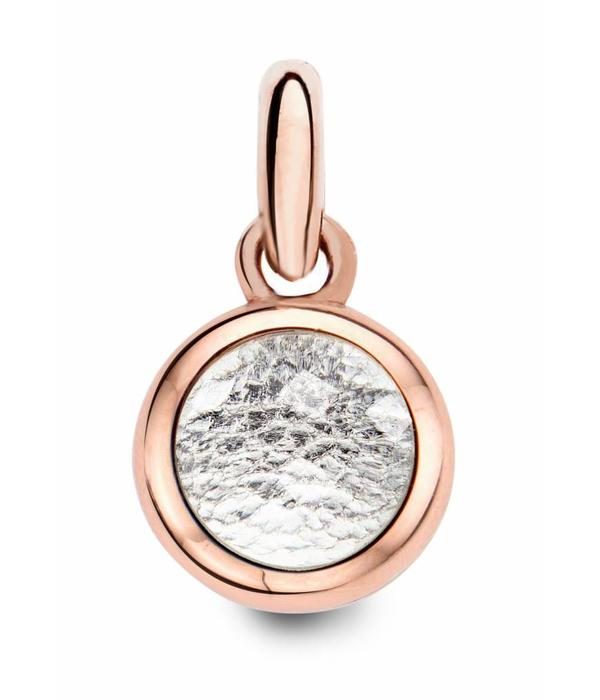 Tirisi Moda Charm Crystal with Silver Leather