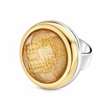Tirisi Moda Charm Crystal/ Gold Leather