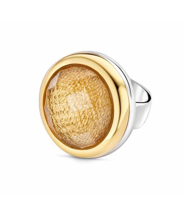 Tirisi Moda Bedel Kristal/ Goud Leer