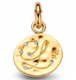Tirisi Moda Charm Oval Letter with Diamond