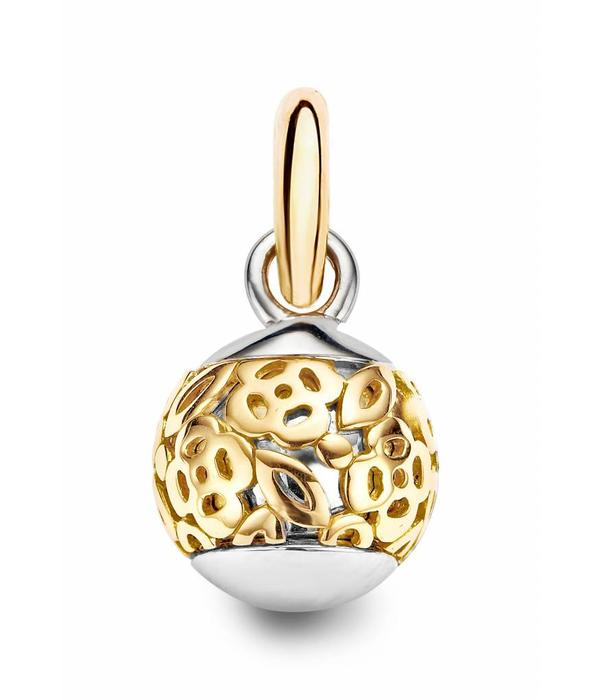 Tirisi Moda Charm Orb open Rose Gold/Silver flower