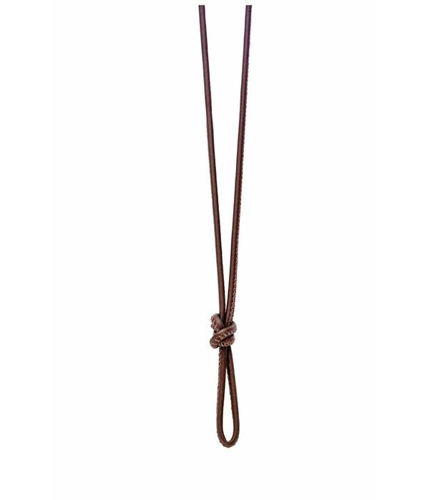 Tirisi Moda Necklace Leather Brown