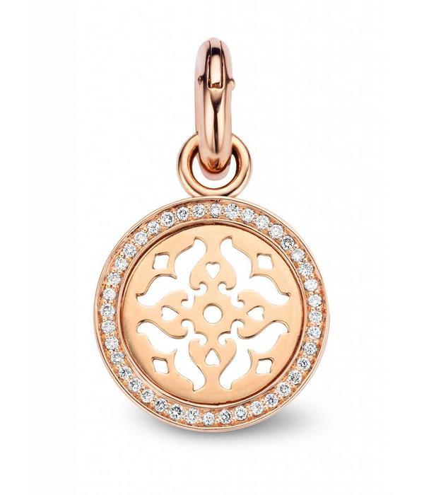 Tirisi Moda Mauritius Charm Filigrain with Diamond Pave