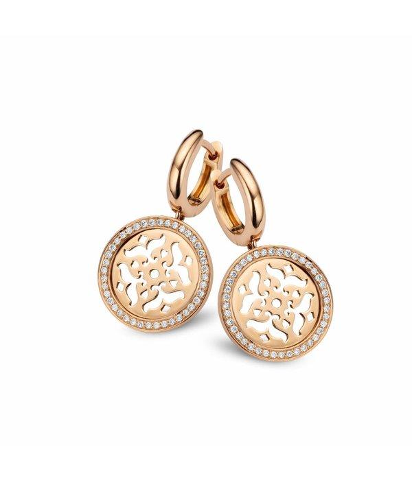 Tirisi Moda Mauritius Earring Drops Filigrain with Diamond Pave