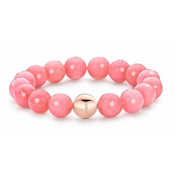 St-Tropez Armband Roze Jade Bolletjes Met Bolsluiting