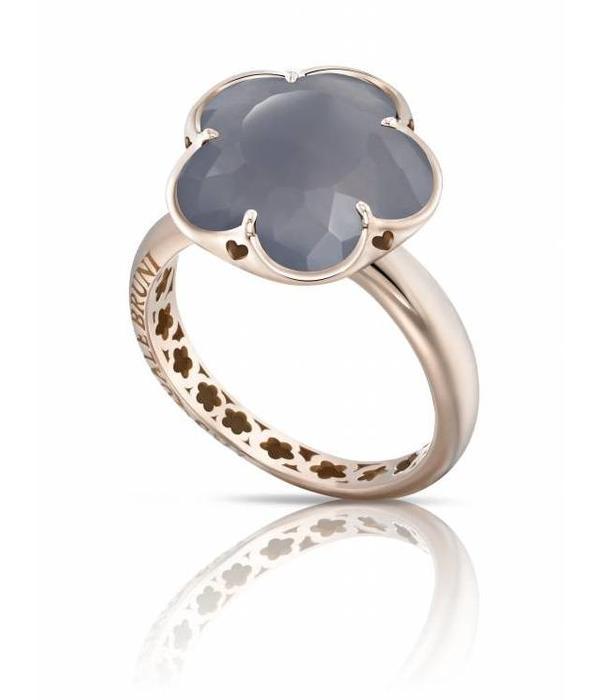 Pasquale Bruni Bon Ton Ring Gold 18K Rose Gold chalcedon Grey