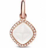 Tirisi Jewelry Charm White Quartz with Diamond rhomb