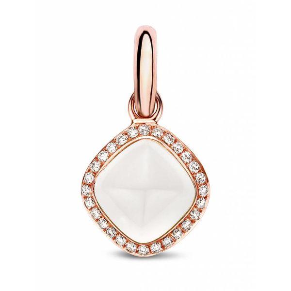 Bedel Witte Kwarts Met Diamant Ruit