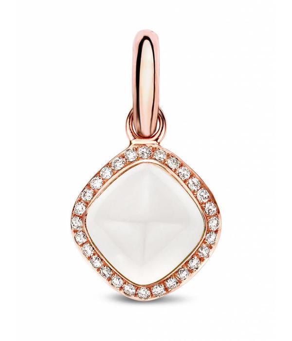 Tirisi Jewelry Charm White Quartz with Diamond rhomb