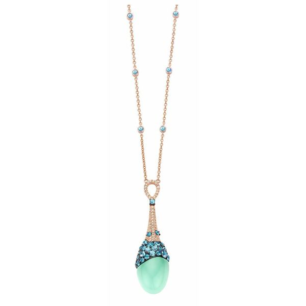 Necklace Doha Aqua Blue Topaz