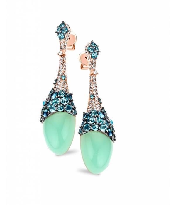 Tirisi Jewelry Oorhangers Doha Aqua Blauw Topaas
