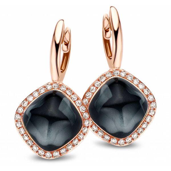 Earring Drops Manama Hematite Rhomb