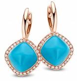 Tirisi Jewelry Earring Drops Manama Turquoise Rhomb