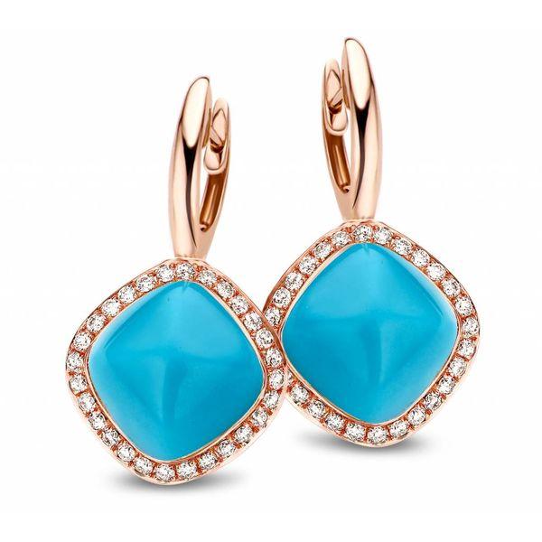Earring Drops Manama Turquoise Rhomb