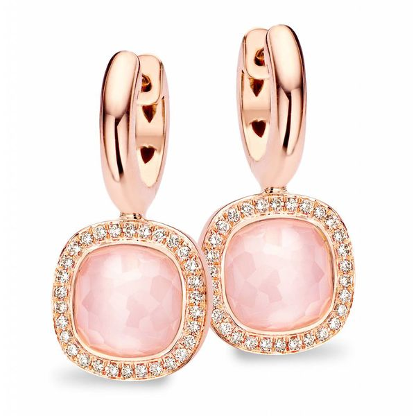 Earring Drops Milano Due Pink Quartz