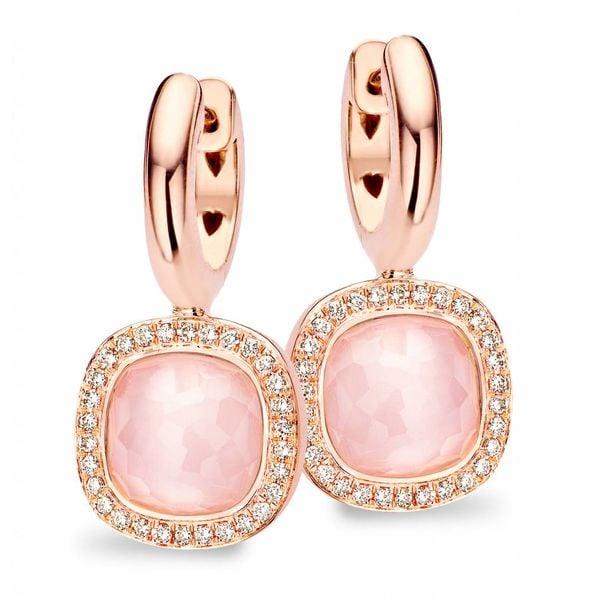 Earring Drops Milano Due Pink Quartz