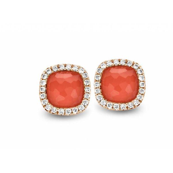 Earring Studs Milano Sweeties Coral