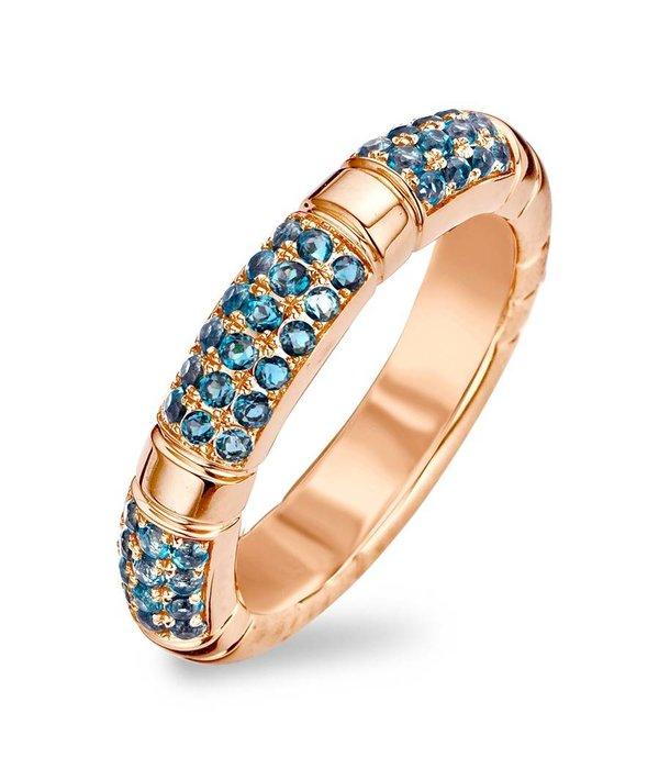 Tirisi Jewelry Ring Amsterdam Blauw Topaas