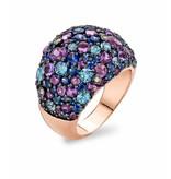 Tirisi Jewelry Ring Doha Amethyst/Sapphire/Blue Topaz