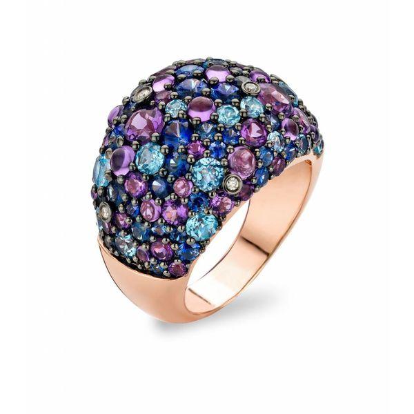 Ring Doha Amethyst/Sapphire/Blue Topaz