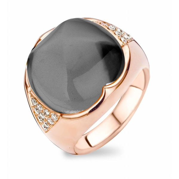 Ring Dubai White Quartz/Hematite