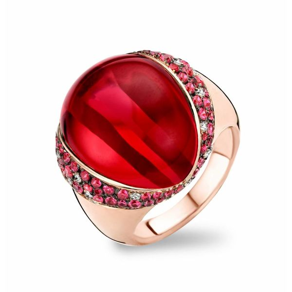 Ring Lisbon Robijn/Rode Kwarts