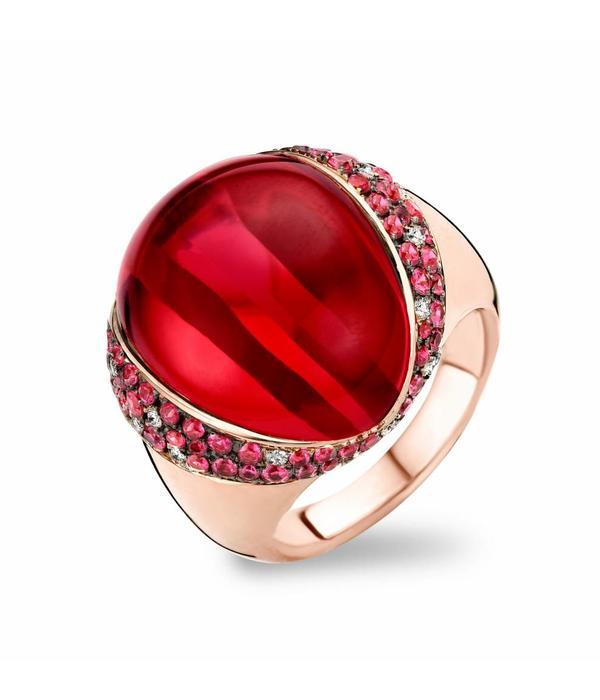 Tirisi Jewelry Ring Lisbon Ruby/Red Quartz