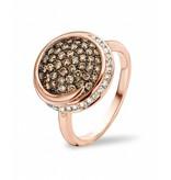 Tirisi Jewelry Ring Seoul Brown Pave