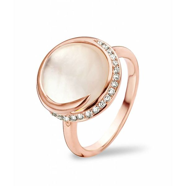 Ring Seoul White Quartz/Mother of Pearl