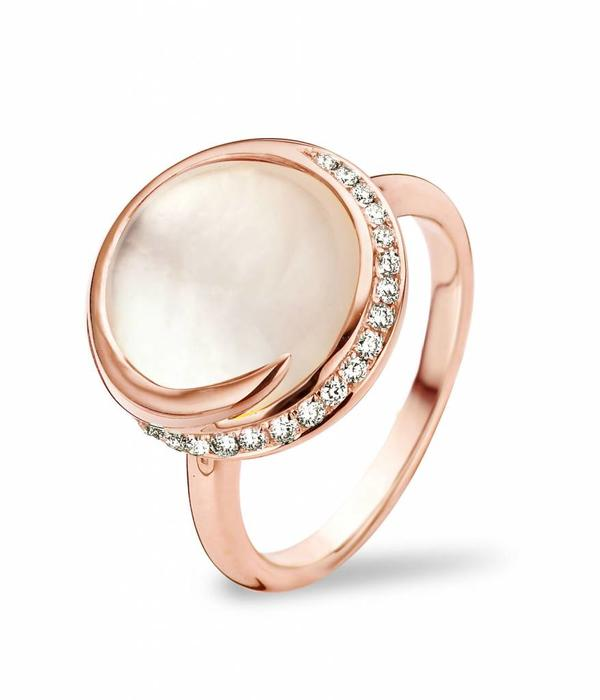 Tirisi Jewelry Ring Seoul White Quartz/Mother of Pearl