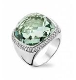 Tirisi Jewelry Ring Verona Square Green Amethyst