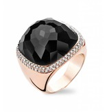 Tirisi Jewelry Ring Verona Square Onyx
