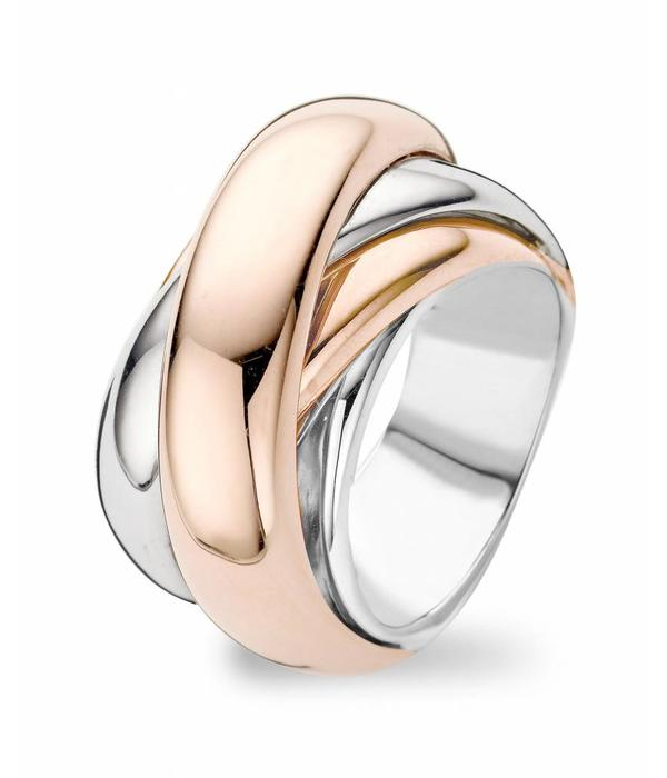 Tirisi Jewelry Ring Amsterdam Straps White/Rose Gold