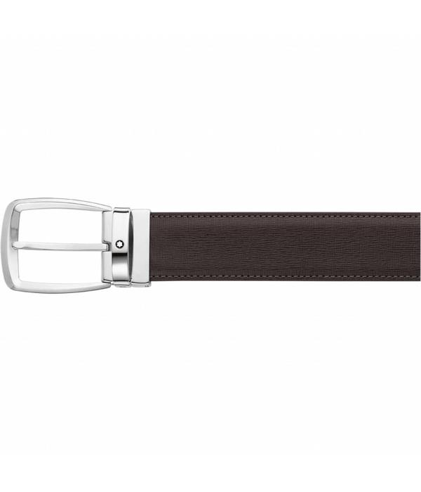 Montblanc Classic Line dk brown palmellato printed strap (114417)
