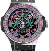 Hublot Big Bang Limited Edition Automatic Stainless Steel Broderie Sugar Skull