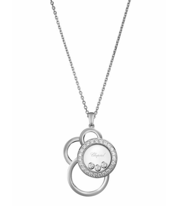 Chopard Happy diamonds witgouden hanger met ketting