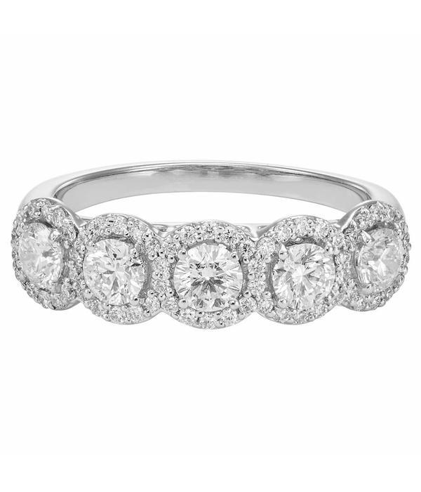 Royal Asscher ring 5-Stone entourage